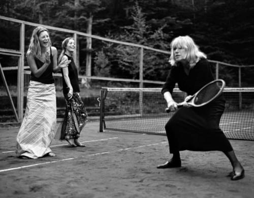 Bruce Weber Kate Moss Marianne Faithfull tennis