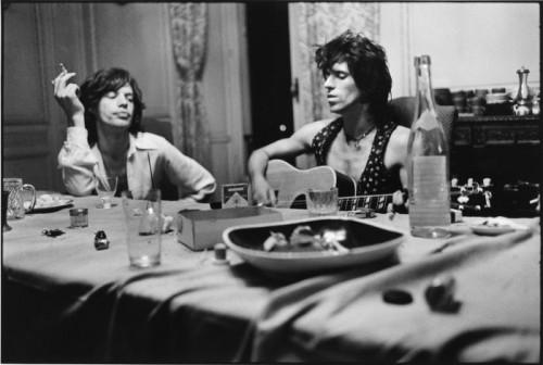 Dominique Tarlé Mick & Keith Salle à manger , Villa Nellcôte, Villefranche sur Mer, 1971