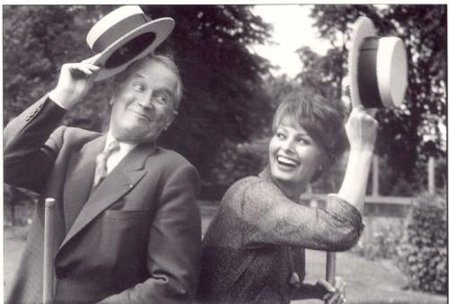François Gragnon Sophia Loren et Maurice Chevalier