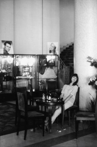 Anna KARINA lors du Festival de Cannes 1960.