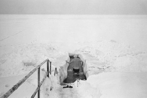 Ljubisa Danilovic homme dans la neige