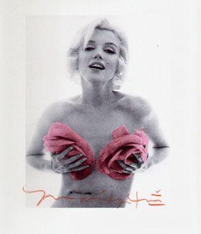 Marilyn Monroe pink roses La dernière séance, 1962