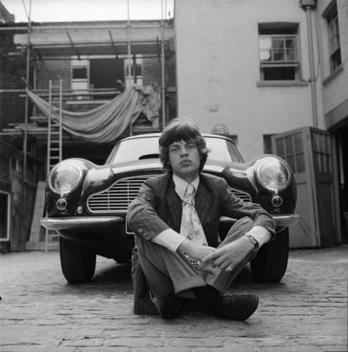 Mick Jagger and Aston Martin