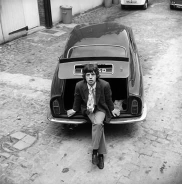 Mick Jagger and Aston Martin