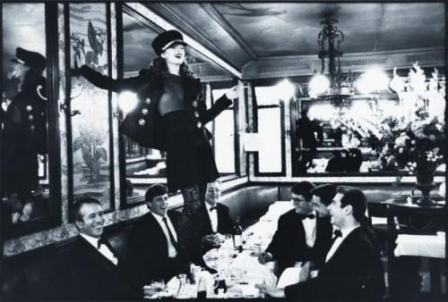Kate Moss at Café Lipp, Italian Vogue Arthur Elgor 1993