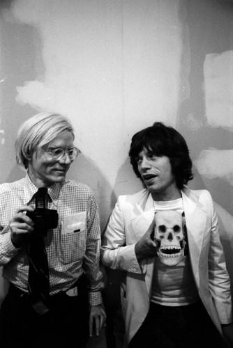 Andy Warhol et Mick Jagger