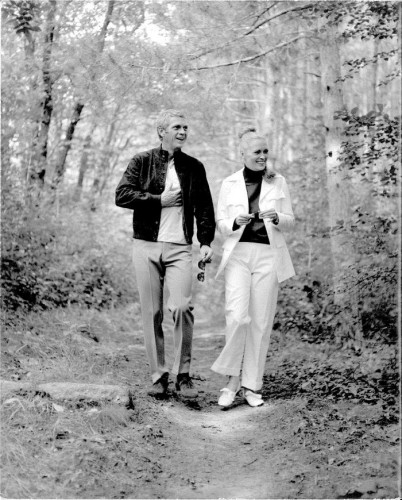 Steve Mcqueen et Faye Dunaway  Tournage L'Affaire Thomas Crown