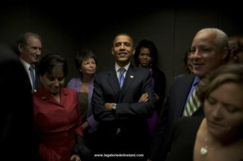 Callie Shell Obama Elevator