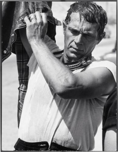 Steve McQueen racing in the Mojave Desert John Dominis