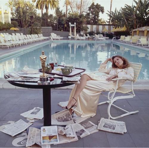 Faye Dunaway Oscar Bore, Beverly Hills Hotel, LA, 1977