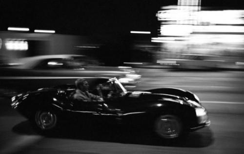 Steve Jaguar de Nuit McQueen par John Dominis