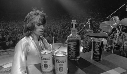 Keith Richards with Jack and Coors