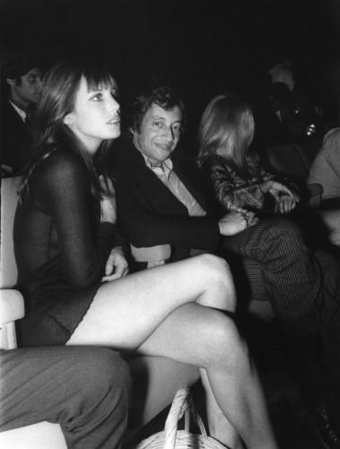 Jane Birkin et Serge Gainsbourg à la première du film Slogan en 1969