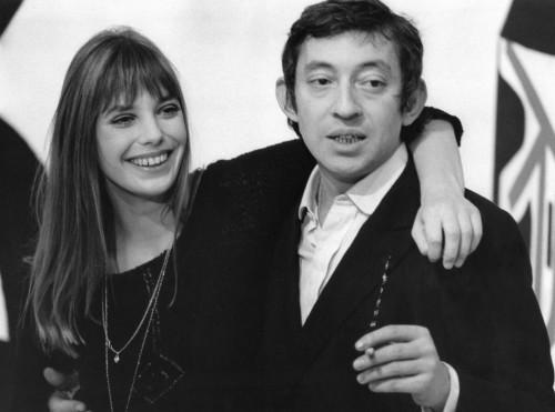 Serge Gainsbourg et Jane Birkin sur le plateau d'un show TV en 1969