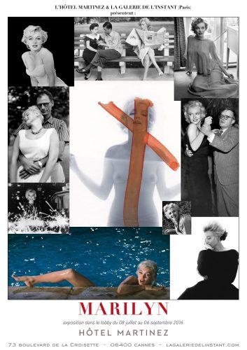 Affiche Expositon Marilyn Monroe Hôtel Martinez