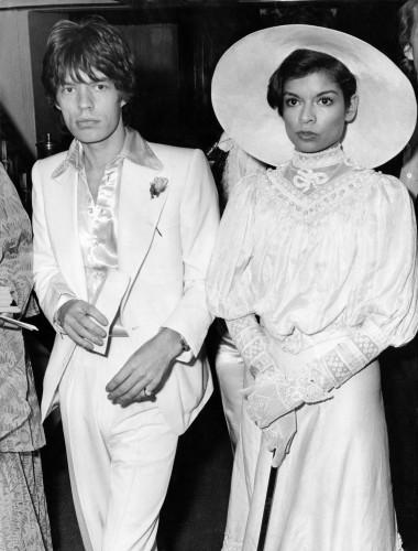 Mick Jagger et Bianca à une soirée de charity en 1973