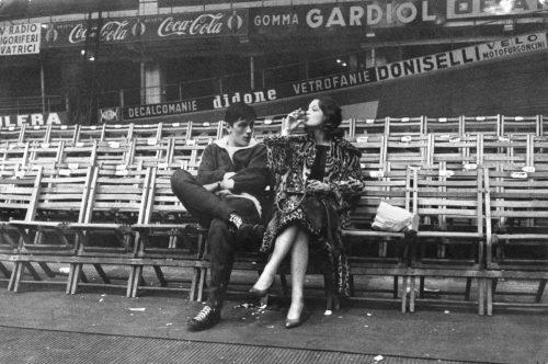 Pendant le tournage de Rocco et ses frères de Luchino Visconti, 1960 (©GianColombo /La galerie de l'instant)