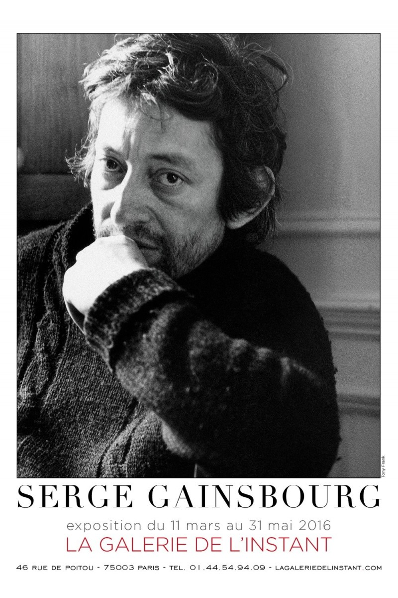 affiche expo photo serge gainsbourg. Black Bedroom Furniture Sets. Home Design Ideas
