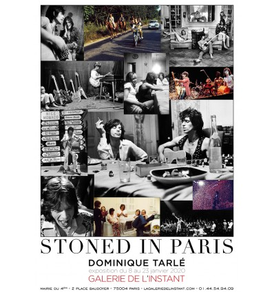 STONED IN PARIS Dominique Tarlé Affiche de l'exposition
