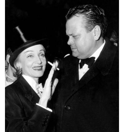 Tirage Photo Marlène Dietrich et Orson Welles