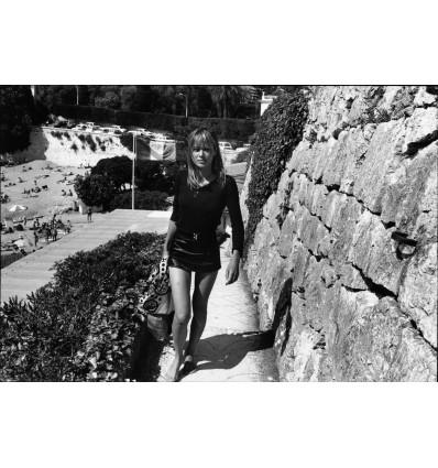 Anita Pallenberg plage de Passable, Saint Jean Cap Ferrat 1971