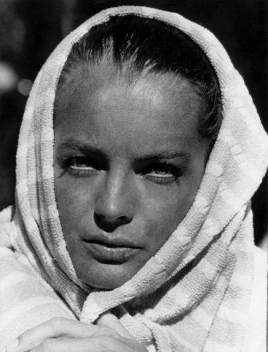 Pendant le tournage de La Piscine de Jacques Deray, 1968