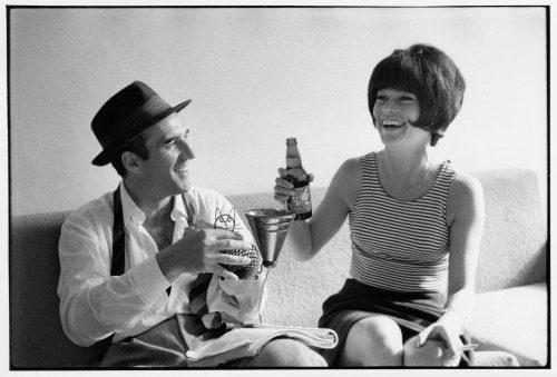 Michel Piccoli, Brigitte Bardot, 1963 (©jean-louis swiners / gamma-rapho / La Galerie de l'Instant)