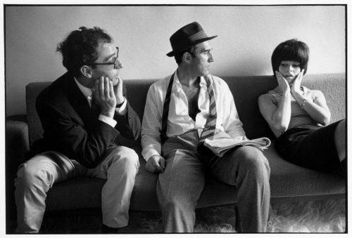 Jean-Luc Godard, Michel Piccoli, Brigitte Bardot, 1963 (©jean-louis swiners / gamma-rapho / La Galerie de l'Instant)