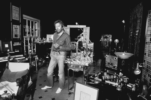 Serge Gainsbourg chez lui le 15 Avril 1982. Serge Gainsbourg, 5 bis rue de Verneuil