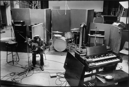 DOMINIQUE TARLÉ - JIMMY PAGE, OLYMPIC STUDIO, LONDRES, 1969