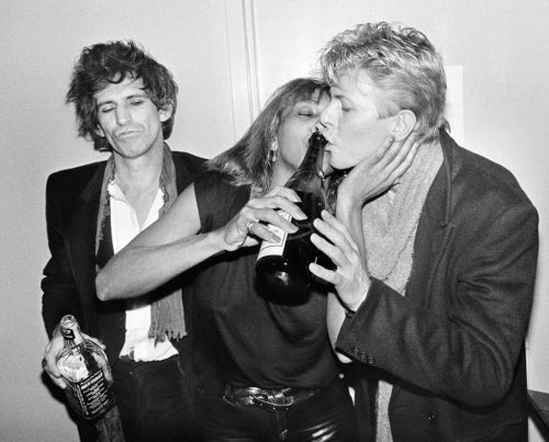BOB GRUEN - KEITH RICHARDS, TINA TURNER, DAVID BOWIE, BACKSTAGE AT THE RITZ, NYC, 1983